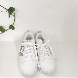 NWT Adidas Silver & White Sneakers